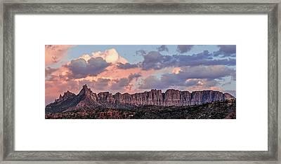 Eagle Crags Sunset Framed Print
