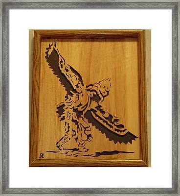 Eagle Dancer Framed Print by Russell Ellingsworth