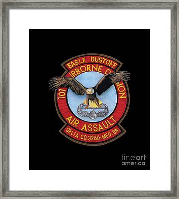 Eagle Dustoff Framed Print by Bill Richards