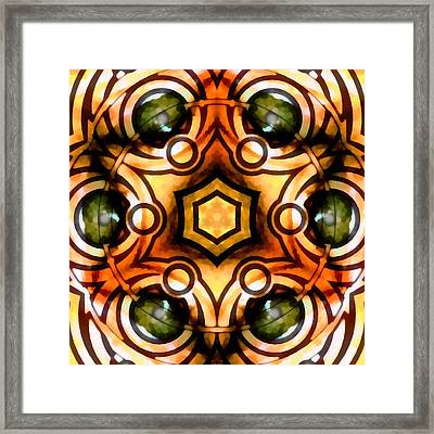 Framed Print featuring the digital art Eagle Eye Ray by Derek Gedney