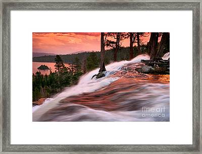 Eagle Falls Evening Framed Print by Buck Forester