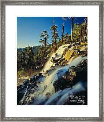 Eagle Falls Lake Tahoe Framed Print by Vance Fox