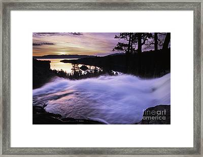 Eagle Falls Morning Framed Print by Buck Forester