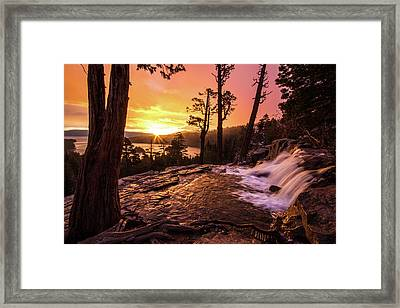 Framed Print featuring the photograph Eagle Falls Sunrise by Wesley Aston