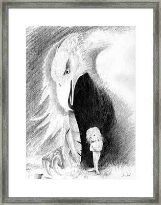 Eagle Guardian Framed Print