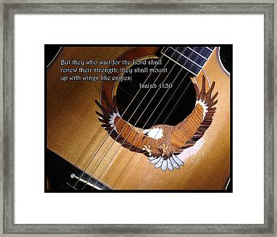 Eagle Guitar Framed Print
