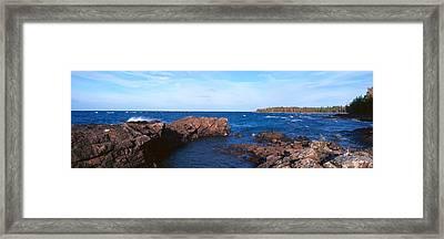 Eagle Harbor, Lake Superior, Michigan Framed Print