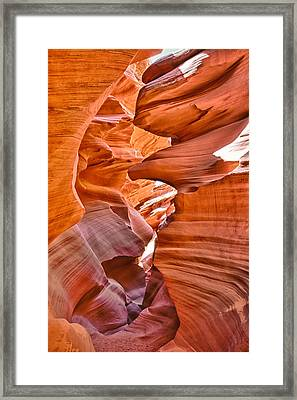 Eagle Head - Antelope Canyon Framed Print by Andreas Freund