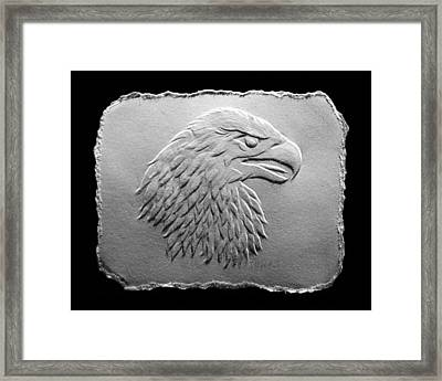 Eagle Head Relief Drawing Framed Print by Suhas Tavkar