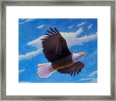 Eagle Heart II Framed Print by Brian  Commerford