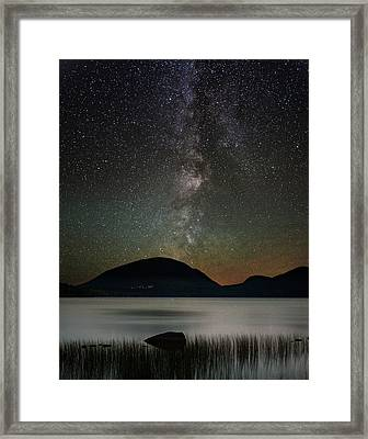 Eagle Lake And The Milky Way Framed Print