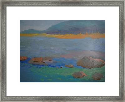 Eagle Lake In Blue Framed Print