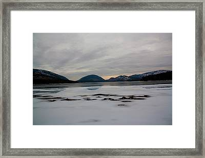 Framed Print featuring the photograph Eagle Lake Sunset I by Greg DeBeck
