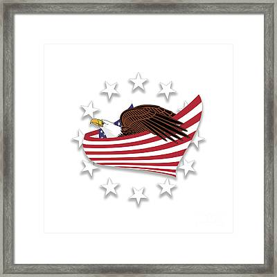 Framed Print featuring the digital art Eagle Of The Free V1 by Bruce Stanfield