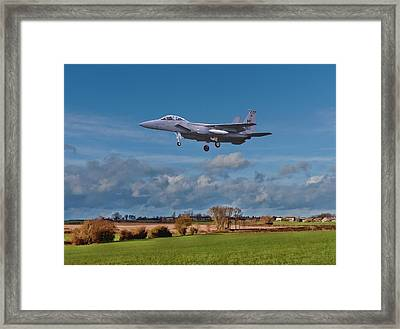 Framed Print featuring the photograph Eagle On Finals by Paul Gulliver