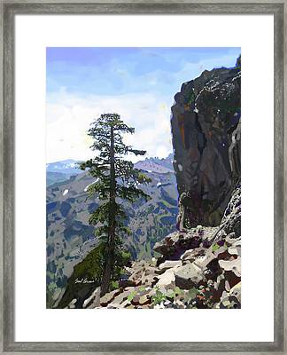 Eagle Peak Framed Print