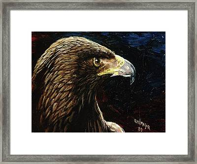 Eagle Profile Framed Print by Emil F Major