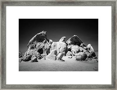Framed Print featuring the photograph Eagle Rock Infrared by Alexander Kunz