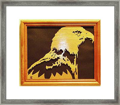 Eagle Framed Print by Russell Ellingsworth