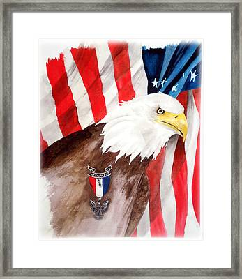 Eagle Scout Framed Print by Rosalea Greenwood