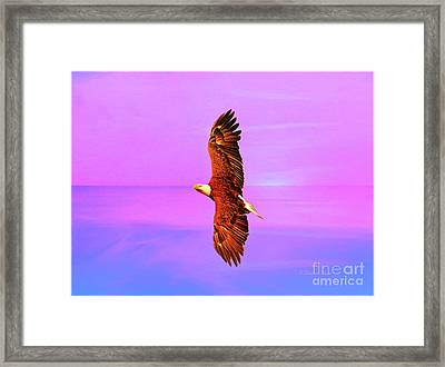 Framed Print featuring the painting Eagle Series Painterly by Deborah Benoit
