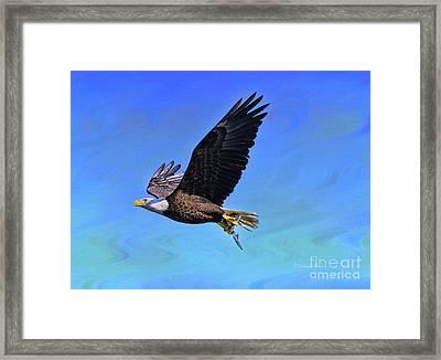 Framed Print featuring the photograph Eagle Series Success by Deborah Benoit