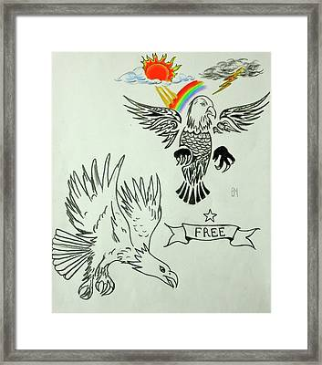 Eagle Spred Framed Print by Pete Maier