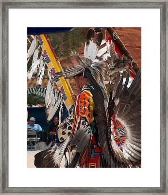 Eagle Staff Framed Print by Tim McCarthy