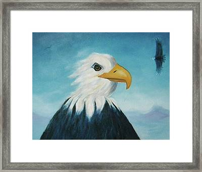 Eagle Framed Print by Suzanne  Marie Leclair