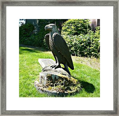 Framed Print featuring the photograph Eagle Totem by 'REA' Gallery