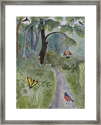 Eagle Trail Framed Print by Alexandra Schaefers