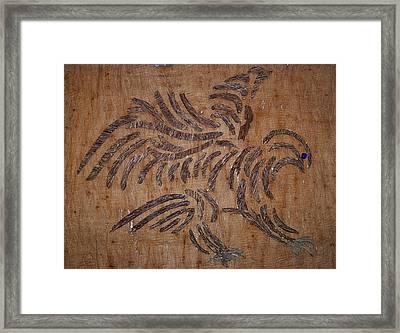 Eagle Tribal Of Agar Wood Framed Print by Joedhi