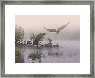 Eagles At Dawn Framed Print