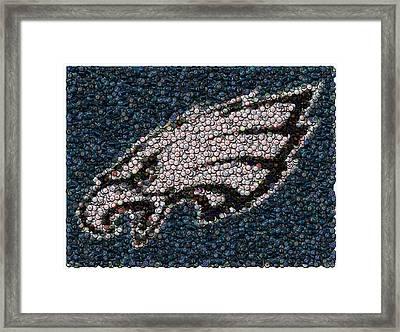 Eagles Bottle Cap Mosaic Framed Print