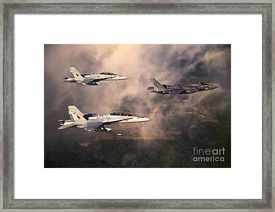 Eagles Framed Print by Celestial Images