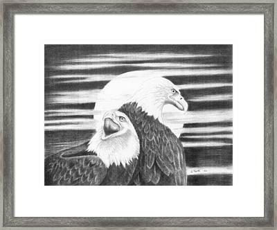 Eagles Framed Print by Lawrence Tripoli
