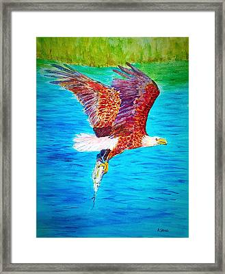 Eagle's Lunch Framed Print