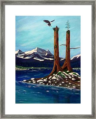 Eagle's Nest Framed Print by John Lyes