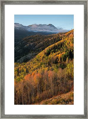 Framed Print featuring the photograph Eagle's Nest Peak Vertical by Aaron Spong