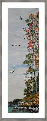 Eagles Point Framed Print by Marilyn  McNish