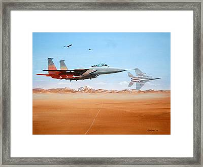 Eagles Framed Print by Werner Pipkorn