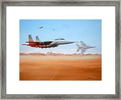 Eagles Framed Print by Werner Pipkorn