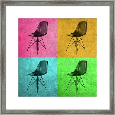 Eames Chair Vintage Pop Art Framed Print by Design Turnpike