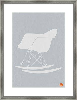 Eames Rocking Chair Framed Print by Naxart Studio