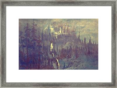 Earht Light Series Lights On  Framed Print