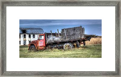 Framed Print featuring the photograph Earl Latsha Lumber Company - Version 1 by Shelley Neff