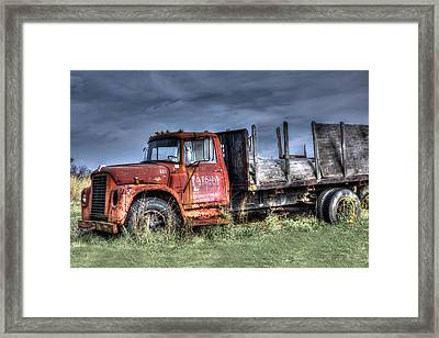 Framed Print featuring the photograph Earl Latsha Lumber Company Version 2  by Shelley Neff