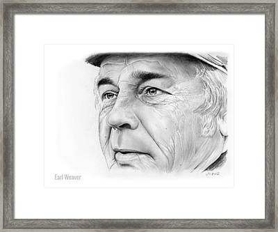 Earl Weaver Framed Print by Greg Joens