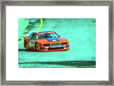 Early 1980s Mercury Capri Scca Trans-am Racer Framed Print by Ken Morris
