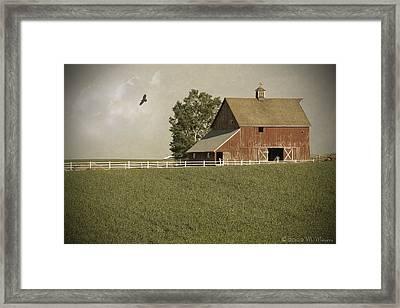 Early Am Barn Framed Print